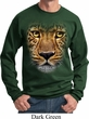 Mens Leopard Sweatshirt Big Leopard Face Sweat Shirt
