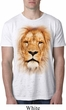 Mens Lion Shirt Big Lion Face Burnout T-Shirt