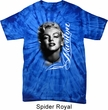 Mens Marilyn Monroe Shirt Black and White Portrait Spider Tie Dye Tee