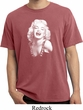 Mens Marilyn Monroe Shirt Marilyn Laughing Pigment Dyed Tee T-Shirt