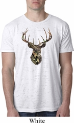 Mens Mossy Oak Camo Deer Burnout Shirt