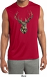 Mens Mossy Oak Camo Deer Sleeveless Dry Wicking Shirt