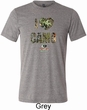 Mens Mossy Oak I Love Camo Tri Blend Crewneck Shirt