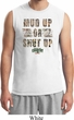 Mens Mossy Oak Mud Up or Shut Up Muscle Shirt