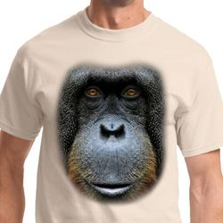 Mens Orangutan Shirt Big Orangutan Face Tee T-Shirt