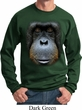 Mens Orangutan Sweatshirt Big Orangutan Face Sweat Shirt