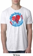 Mens Peace Shirt All You Need is Love Burnout Tee T-Shirt