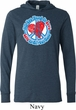 Mens Peace Shirt All You Need is Love Lightweight Hoodie Tee