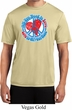 Mens Peace Shirt All You Need is Love Moisture Wicking Tee