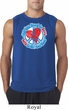 Mens Peace Shirt All You Need is Love Sleeveless Tee T-Shirt
