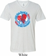 Mens Peace Shirt All You Need is Love Tri Blend V-neck Tee