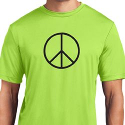 Mens Peace Shirt Basic Peace Black Moisture Wicking Tee