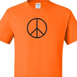Mens Peace Shirt Basic Peace Black Tall Tee T-Shirt