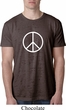 Mens Peace Shirt Basic Peace White Burnout Tee T-Shirt