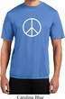 Mens Peace Shirt Basic Peace White Moisture Wicking Tee