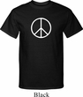 Mens Peace Shirt Basic Peace White Tall Tee T-Shirt