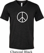 Mens Peace Shirt Basic Peace White Tri Blend V-neck Tee
