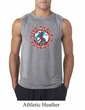 Mens Peace Shirt Give Peace a Chance Sleeveless Tee T-Shirt