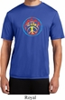 Mens Peace Shirt Psychedelic Peace Moisture Wicking Tee