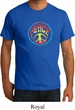 Mens Peace Shirt Psychedelic Peace Organic Tee T-Shirt