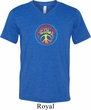 Mens Peace Shirt Psychedelic Peace Tri Blend V-neck Tee