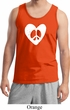 Mens Peace Tank Top Hippie Heart Peace Tanktop