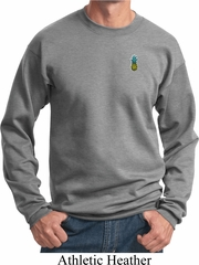 Mens Pineapple Patch Pocket Print Sweatshirt