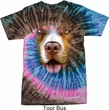 Mens Pit Bull Shirt Big Pit Bull Face Tie Dye T-shirt