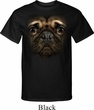 Mens Pug Shirt Big Pug Face Tall Tee T-Shirt