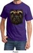 Mens Pug Shirt Big Pug Face Tee T-Shirt