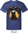 Mens Rottweiler Shirt Big Rottweiler Face Tall Tee T-Shirt