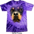 Mens Rottweiler Shirt Big Rottweiler Face Tie Dye T-shirt