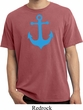 Mens Sailing Shirt Blue Anchor Pigment Dyed Tee T-Shirt