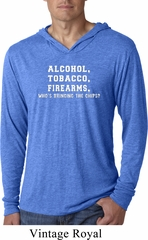 Mens Shirt Alcohol Tobacco Firearms ATF Lightweight Hoodie Tee T-Shirt