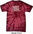 Mens Shirt Alcohol Tobacco Firearms ATF Spider Tie Dye Tee T-shirt