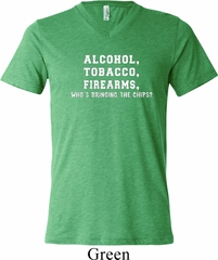 Mens Shirt Alcohol Tobacco Firearms ATF Lightweight Hoodie Tee