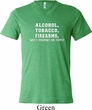 Mens Shirt Alcohol Tobacco Firearms ATF Tri Blend V-neck Tee