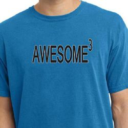 Mens Shirt Awesome Cubed Pigment Dyed Tee T-Shirt