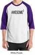 Mens Shirt Awesome Cubed Raglan Tee T-Shirt