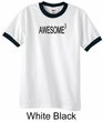 Mens Shirt Awesome Cubed Ringer Tee T-Shirt