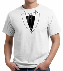 Mens Shirt Basic Black Tuxedo Organic Tee T-Shirt