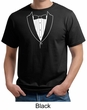 Mens Shirt Basic White Tuxedo Organic Tee T-Shirt