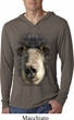 Mens Shirt Big Black Bear Face Lightweight Hoodie Tee T-Shirt