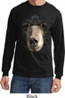 Mens Shirt Big Black Bear Face Long Sleeve Tee T-Shirt