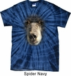 Mens Shirt Big Black Bear Face Spider Tie Dye Tee T-shirt