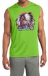 Mens Shirt Big Chief Indian Motorcycle Biker Sleeveless Moisture Wicking Tee