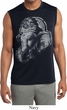 Mens Shirt BIG Ganesha Profile Sleeveless Moisture Wicking Tee T-Shirt