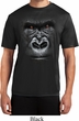Mens Shirt Big Gorilla Face Moisture Wicking Tee T-Shirt
