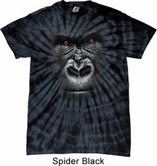 Mens Shirt Big Gorilla Face Spider Tie Dye Tee T-shirt