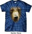 Mens Shirt Big Grizzly Bear Face Spider Tie Dye Tee T-shirt